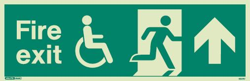 (4031) Jalite Mobility Impaired Fire Exit Up sign