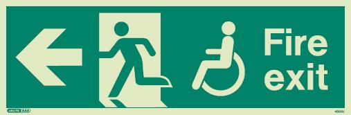 (4032) Jalite Mobility Impaired Fire Exit Left sign