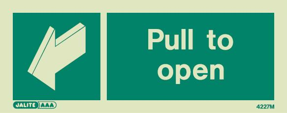 4227 jalite pull to open door sign