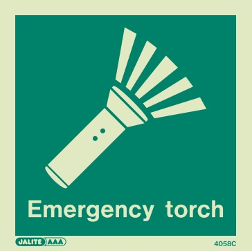 (4058) Jalite Emergency Torch Sign