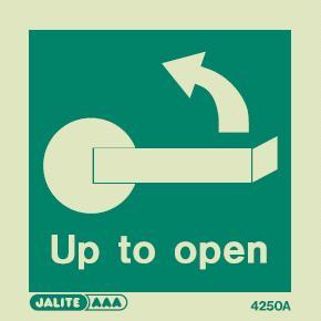 4250 jalite handle up left to open door sign