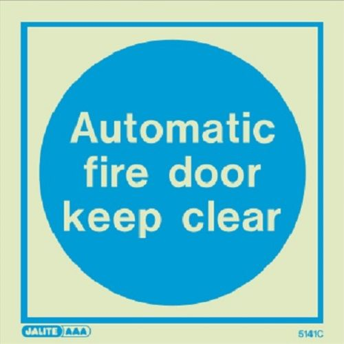 (5141) Automatic fire door keep clear sign