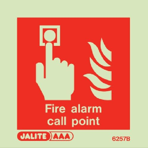 (6257 B) Jalite Fire alarm call point Sign
