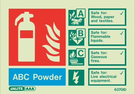 (6370ID) Jalite ABC Powder Fire Extinguisher Sign