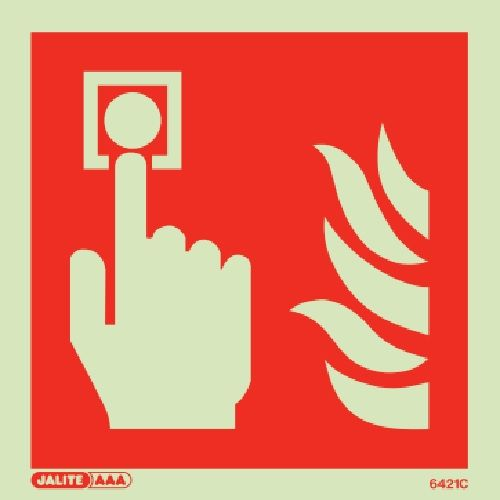 (6421) Jalite Fire alarm sign - just image