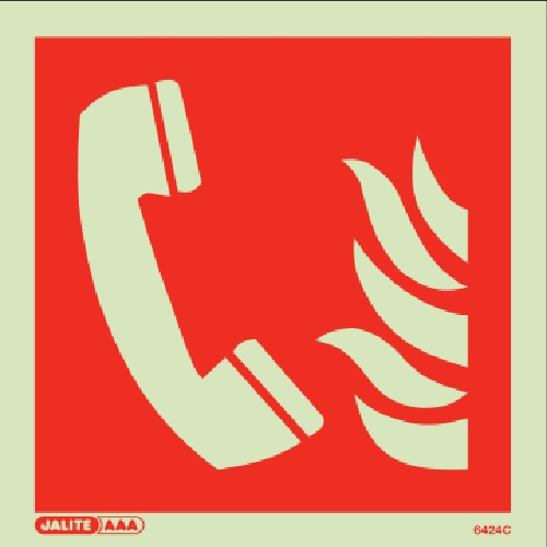 (6424) Jalite Fire telephone Sign