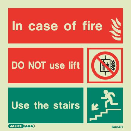6434 Jalite In Case Of Fire Do Not Use Lift Use The