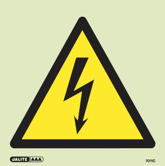 (7011) Jalite High voltage triangle electrical hazard sign