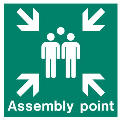 (AL4128) Jalite Aluminium External Assembly Point Sign