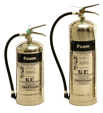 FOAM AFFF Extinguisher (Stainless Steel)  'FirePower' - *various sizes*