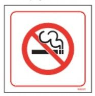 No Smoking Sign - image only *single / double sided*