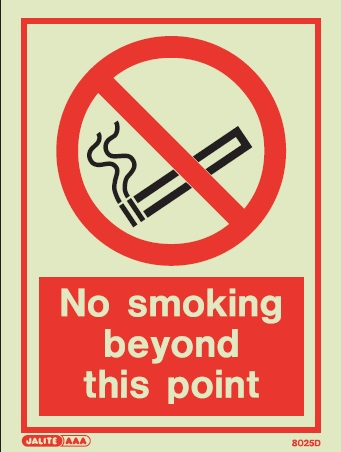 Photoluminescent Smoking Prohibition & Control Signs