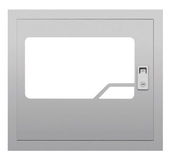 Premier Quatro Chrome Flush Mount Bezel & Door (40-006)