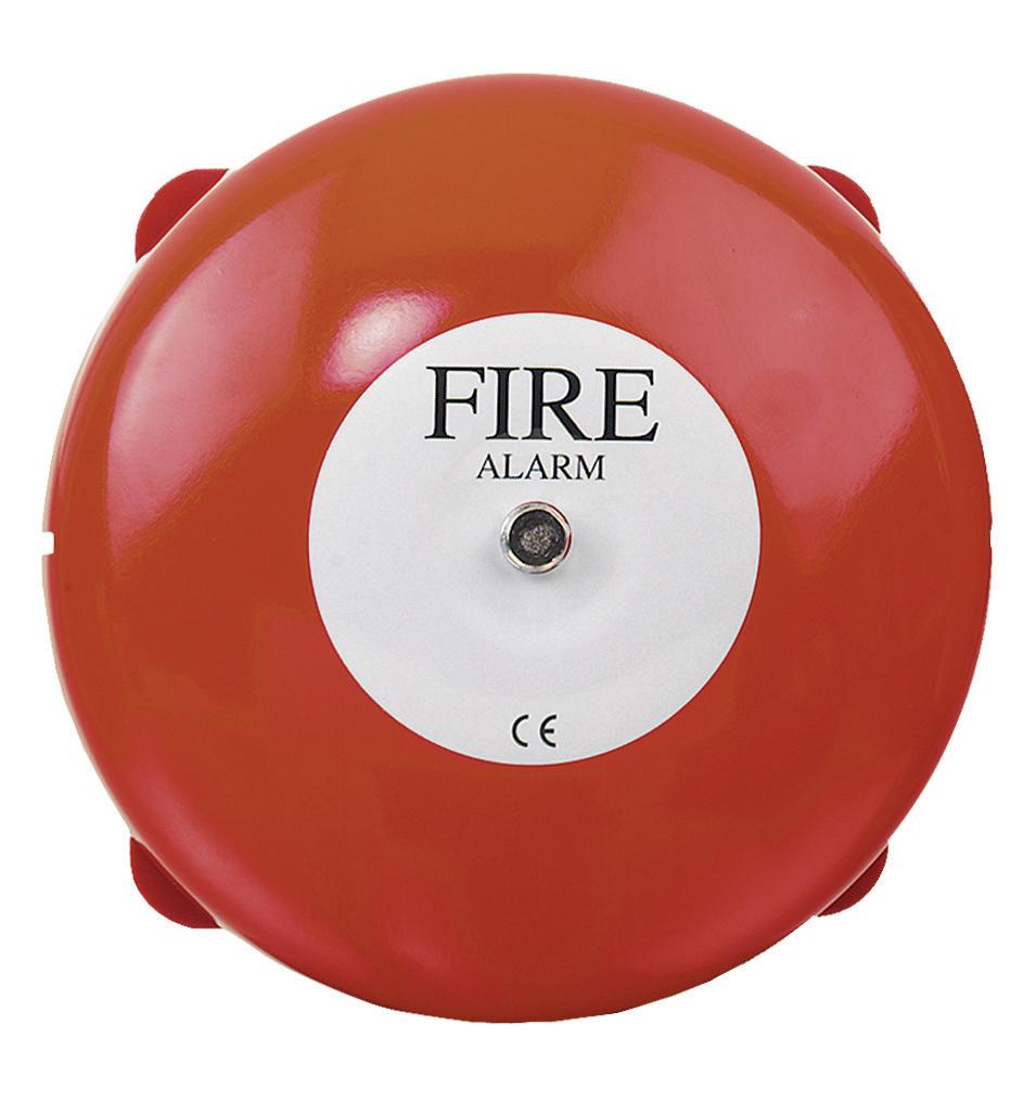 Vimpex Weatherproof 6 Inch Fire Alarm Bell 24vdc 12ma En54 7